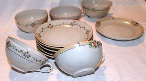 Antique Japan Made Porcelain Cups and Saucers