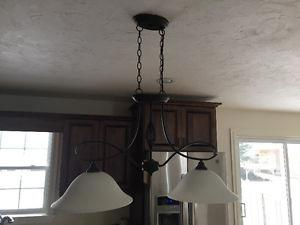 Elegant just like new chandelier and matching island
