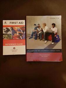 First-aid book and CNA math book