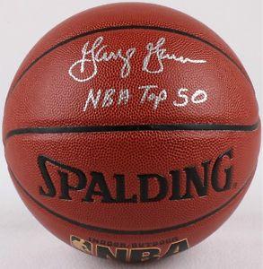 "George Gervin Signed Basketball Inscribed ""NBA Top 50"""