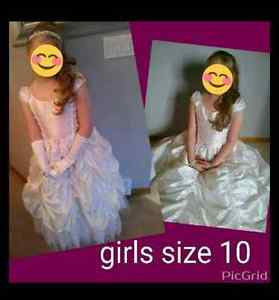 Girls size 10 soft white communion / flower girls dress