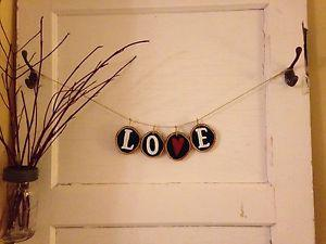 Handmade Birch Wood Decorative Sign