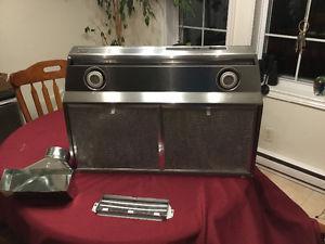 Kenmore 30 inch range hood, stainless steel