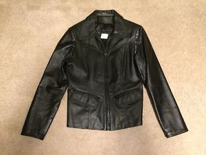 """Lady's Size 3 """"The Leather Ranch"""" Black Leather Jacket"""