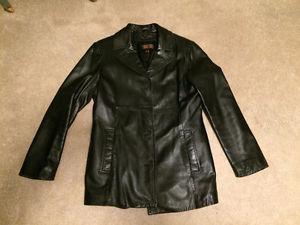 "Lady's Size Small ""Danier"" Black Leather Jacket"
