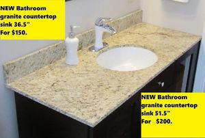 NEW Bathroom Sink Granite Vanity Top