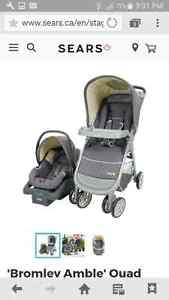 Stroller/car seat and base combo