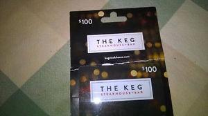 $ The Keg gift card