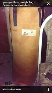 heavy bag....not made of cheap vinal.