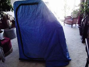 2 PERSON FLIP UP ICE FISHING TENT ON SLED
