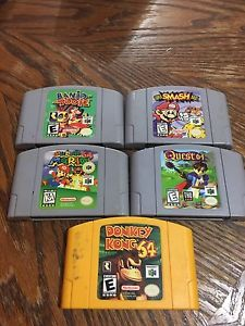 5 N64 games for sale