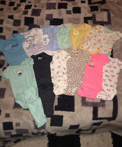 Baby Girl clothes and Receiving Blankets