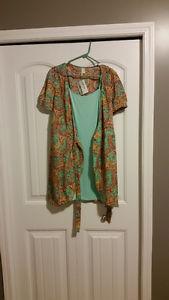 Brand New Never Worn Mint Green Wrap-around Dress