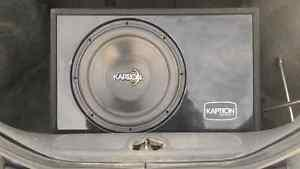 Kaption 12 inch sub and box for sale in north battleford