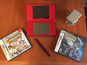 Nintendo DSi XL + Pokemon Diamond, Harvest Moon, and Mario