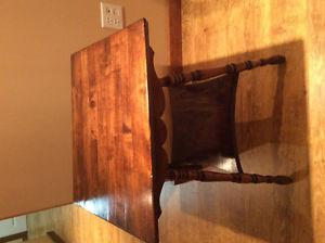 Solid wooden hall table size 24x21 and height is 28 inches