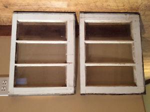 Two old windows.  each