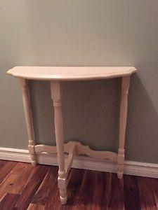 White half moon table