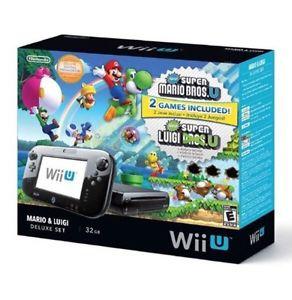 Wii U Deluxe Set: Super Mario Bros- U and New Super Luigi U