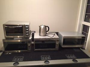 ** 3 MICROWAVES ** TOASTER OVEN ** KETTLE