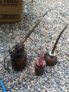 Grandpa's antique oilers