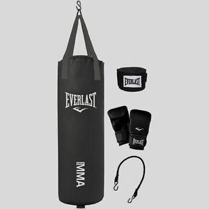 MMA Everlast Black leather professional Body Punching bag -