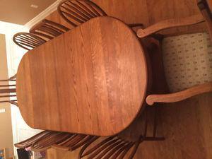 Solid oak antique table set.