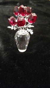 Swarovski Crystal Roses in Vase