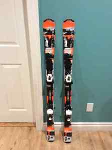 Two sets of Skis - Techno Pro 130 with bindings (orange &