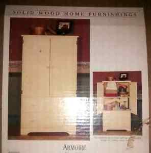 (Brand New) Solid Wood Storage Wardrobe Unit. (In Box)