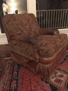 """Brown """"BarcaLounger"""" reclining easy chair"""