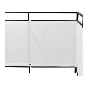Ikea (fabric) Deck privacy screens