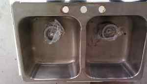 Kindred Stainless steel equal double kitchen sink
