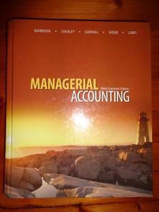 Managerial Accounting textbook - Garrison - ONLY $45!