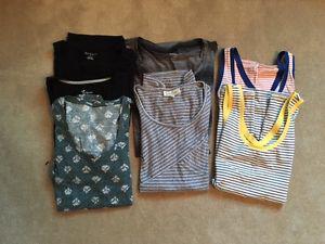 Maternity Shirts: Lot of 9