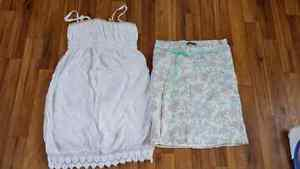 Maternity dress and skirt