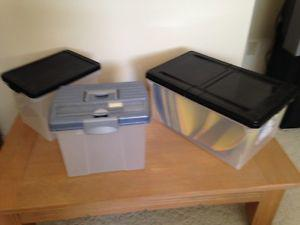 Office file storage containers w/hanging files