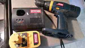 Ryobi 18V Half Inch Drill Set Comes with Drill plus battery