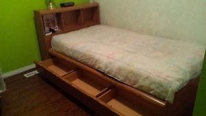 Twin Bed With Lots of Storag