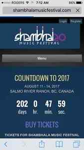 Wanted: In Search of Shambala  ticket!