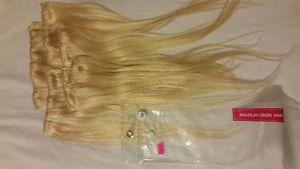 "18"" Brazilian Virgin human hair extensions"