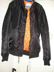 $75 · BRAND NEW NEVER WORN BLACK BOMBER JACKET