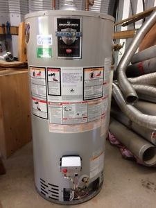 Bradford White gas hot water heater with insulated chimney