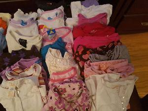 Girls long sleeve shirts size 3