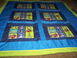 "Home made baby quilt 42"" x 48"" with pillow"