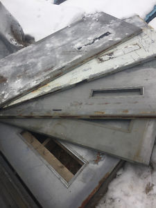 Insulated heavy metal doors and frames