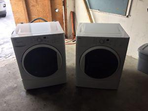 Kenmore stackable high efficiency washer and dryer