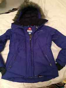 LADIES NEW COLUMBIA WINTER JACKET WITH HOOD SIZE SM
