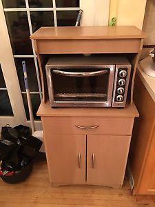 Microwave shelving unit