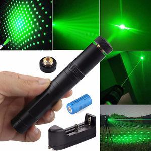 Military Green Laser Pointer Pen Visible Beam Star